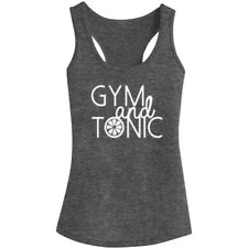 Womens Gym and Tonic Fitness Workout Racerback Tank Tops