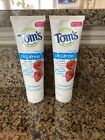 2 New Tom's of Maine Children's Fluoride Free Toothpastes - 5.1 Oz Each
