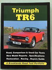 Triumph Tr6 Classic Car Vehicle Book 'Brooklands Road Test Portfolio' In Vgc