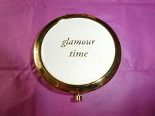 Accessorize Glamour Time White & Gold Colour Trim Double Make Up Mirror (Gift)