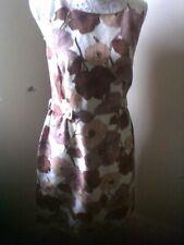 Silk/Linen Cream Floral Fitted Lk Bennett Dress sz12. Classic.