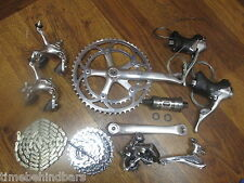 VINTAGE SHIMANO DURA ACE 7410 172.5 52/39 GROUP GRUPPO BUILD KIT 8 SPEED DOUBLE