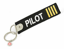Pilot -beidseitig- Schlüsselanhänger Keyring schwarz Schlüssel Anhänger 12x3cm