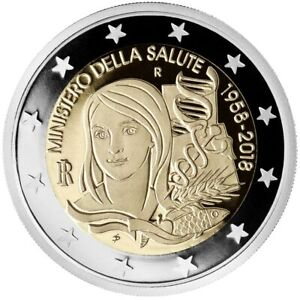 Italy, 2018, 60 Years of the Ministry of Health 2 euro commemorative coin