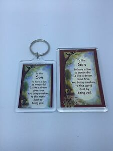 TO OUR SON Keyring or Fridge Magnet - FAMILY GIFT PRESENT IDEA
