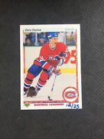 2014-15 UPPER DECK CHRIS CHELIOS '90-91 UD 25TH ANNIVERSARY BUYBACK #ed 12/25