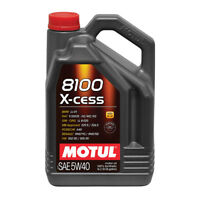 MOTUL 8100 X-CESS 5W40 SYNTHETIC ENGINE OIL 5 LITRES 5L