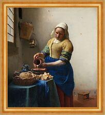 The milkmaid Jan Vermeer Bauern Milch Krug Schale Magd Brot Essen B A3 02469