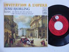 Invitation a l opera JUSSI BJORLING Manon Reve de des Grieux ROVL 9016