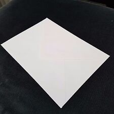 "10 x White Envelopes for Greeting Cards Craft Letter 124mm x 117mm (4.8""x6.75"")"