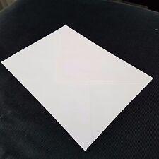 50 x Enveloppes Blanches Pour cartes de voeux loisirs créatifs Lettre 124mm