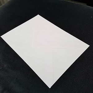 """10 x White Envelopes for Greeting Cards Craft Letter 124mm x 117mm (4.8""""x6.75"""")"""