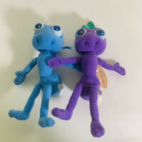 "Disney Store A Bugs Life Dot And Flik Bean Bag Stuffed Toy Vintage 8"" Plush Set"