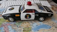 TAIYO   Voiture en Tôle Vintage Highway Patrol P.D 12 Battery Car Made in Japan