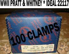 PRATT WHITNEY WWII IDEAL # 22117 R-2800 HOSE HOT ROD WILLYS VINTAGE 100 CLAMPS