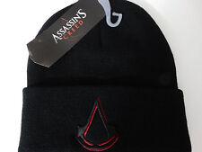 Assassins Creed Logo Video Game Cuff Black Beanie Knit Hat Nwt