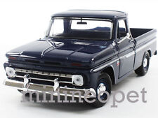 MOTORMAX 73355 1966 CHEVROLET C10 FLEETSIDE PICKUP TRUCK 1/24 DIECAST DARK BLUE