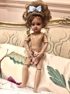 "Black-Antique Millette  French Bebe 11""  E.J. Jumeau Porcelain Doll"