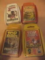 4 x TOP TRUMPS playing cards card games GOGOS SHREK 2 THE DOG PREDATORS