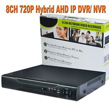 CCTV Hybrid 8CH DVR NVR AHD 8 x 720P IP 8 x 720P HDMI VGA Onvif Android ISO