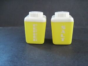 Vintage Lustro Ware Plastic Yellow Salt and Pepper Shakers
