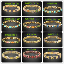 Women Men Copper Magnetic Bracelet Therapy Arthritis Pain Healing chain Bangle