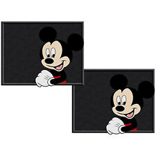 2pcs Mickey Mouse Face Universal Car Truck Rear Utility Rubber Floor Mats Set