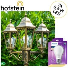 klassische Garten Wege Außen Steh Lampe Kandelaber mit 3 Philips LED Birnen 8,5W