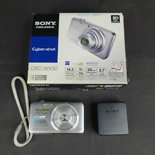 Sony Cyber-Shot DSC-WX50 16.2MP Digital Camera - Silver, Charger, incl 8GB SD
