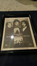 Paul McCartney And Wings London Town Rare Original Promo Ad Framed!