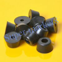 10pcs 32x18mm Round Rubber Feet With Metal For Tube Amp Radio Gear ATA Cabinet