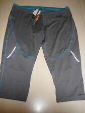 NEU Crivit Sports Damen Laufhose Laufcapri Gr. XS 32 / 34 grau-blau !!