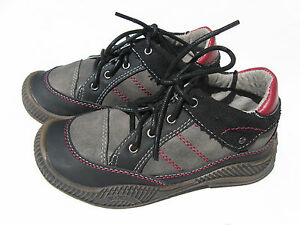 Brand new  Tabpoles boys girls kids size 12 black/ grey leather  casual shoes.