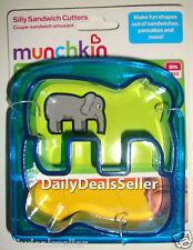 Munchkin Fun Silly Sandwich Pancakes Cutters - ELEPHANT Cutter Kids Children NEW