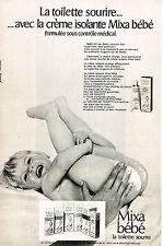 PUBLICITE ADVERTISING 043 1971 MIXA BEBE lait de toilette creme           220413