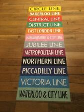 "London Destination Bus Blind 27"" X 73""- All London Underground Tube Train Lines"
