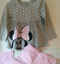 Disney Baby Girl 24M Jegging Set Minnie Mouse Top Pink Long Sleeve New