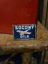 vintage old socony airplane motor oil display rack sign gas sales service