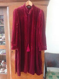 Damen Samtmantel Seidensamt Kimono Other Stories Bordeaux 38