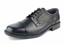 Oaktrak Charles Mens Leather Oxford Lace Up Shoes Black