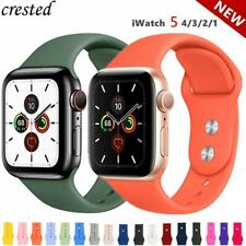 Silicone Strap Apple Watch band 38mm-44mm for series 1 2 3 4 5 iwatch and sport