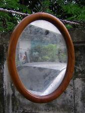 NOS wall Oval mirror shape Teak wood fram