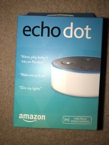 Amazon Echo Dot (2nd Generation) Smart Assistant - White Brand New, Never Opened