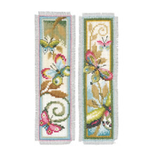 VERVACO Cross Stitch Kit Set of 2 BOOKMARKS Deco Butterflies PN-0155949
