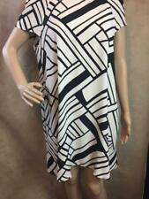 Zara Geometric Patterned Skater Dress Size Medium B20 Ref 4043 255