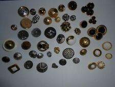 53 DIFFERENT STYLE SHANK BUTTONS * SILVER GOLD BRONZE & MORE METAL & ACRYLIC