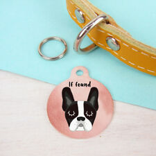 French Bulldog personalised copper dog name ID tag Collar Charm - Frenchie Tag