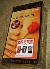AMERICAN BEAUTY TWO-TAPE VHS SET, NEW AND SEALED, BEST PICTURE OSCAR WINNER!