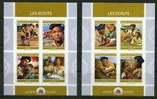 TOGO 2019 SCOUTS  SET OF TWO  IMPERFORATE SHEETS  MINT NH