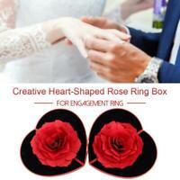 3D rotierende Rose Ring Box Hochzeit Engagement Schmuck Lagerung Inhaber